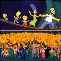 Angry Mob Scene Group Arrangement Lyrics And Music By The Simpsons Movie Hans Zimmer Arranged By Jm 1993