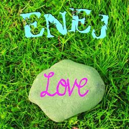 Kamien Z Napisem Love Lyrics And Music By Enej Arranged By Radekfrompl Abw