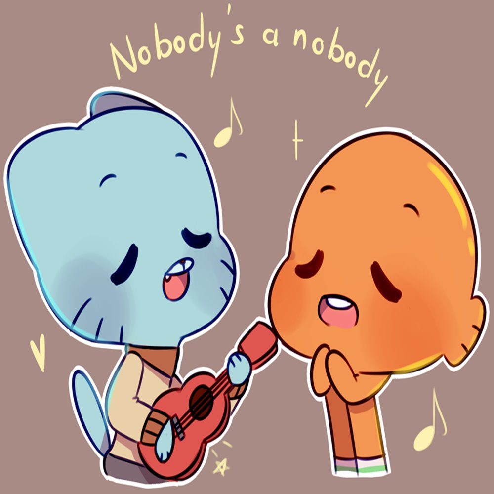 Nobody S A Nobody Gumball Cartoon Network Lyrics And Music By Cartoon Network Arranged By Pumpkinshygal Nobody lyrics on wn network delivers the latest videos and editable pages for news & events, including entertainment, music, sports, science and more, sign up and share your playlists. nobody s a nobody gumball cartoon