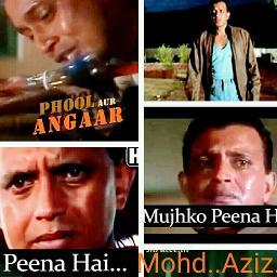 Mujhko Peena Hai Peene Do Crystal Clear Lyrics And Music By Mohd Aziz Phool Aur Angaar Arranged By Xclamation