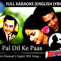 Pal Pal Dil Ke Paas Lyrics And Music By Kishore Kumar Arranged By Abhijeet
