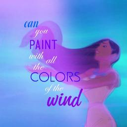 pocahontas colors of the wind